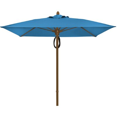 7.5 Prestige Canopy Square Market Umbrella Frame Finish: White, Fabric: Sky Blue