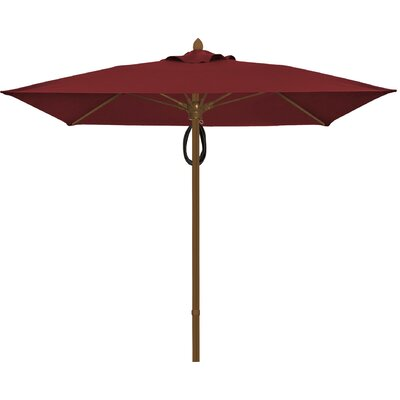 6 Prestige Canopy Square Market Umbrella Fabric: Burgundy, Frame Finish: Champagne Bronze