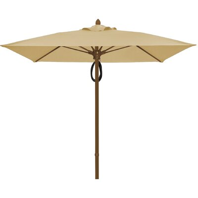 7.5 Prestige Canopy Square Market Umbrella Frame Finish: White, Fabric: Linen