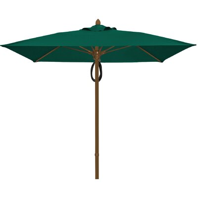6 Prestige Canopy Square Market Umbrella Frame Finish: Champagne Bronze, Fabric: Forest Green