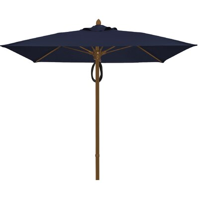 6 Prestige Canopy Square Market Umbrella Frame Finish: White, Fabric: Captain Navy