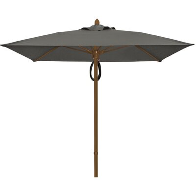 6 Prestige Canopy Square Market Umbrella Frame Finish: White, Fabric: Charcoal Grey