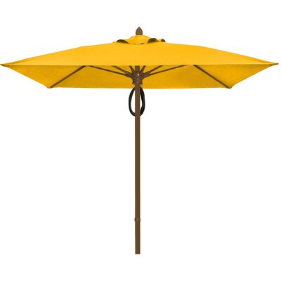 7.5 Prestige Canopy Square Market Umbrella Frame Finish: White, Fabric: Buttercup
