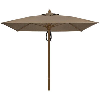 7.5 Prestige Canopy Square Market Umbrella Frame Finish: White, Fabric: Taupe