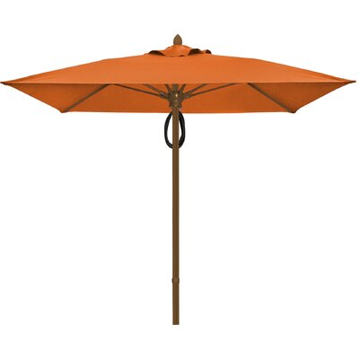 6 Prestige Canopy Square Market Umbrella Fabric: Tuscan, Frame Finish: Champagne Bronze