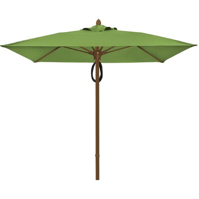 6 Prestige Canopy Square Market Umbrella Fabric: Macaw, Frame Finish: White