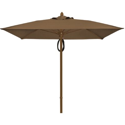 7.5 Prestige Canopy Square Market Umbrella Frame Finish: White, Fabric: Cocoa