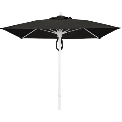 7.5 Prestige Canopy Square Market Umbrella Frame Finish: White, Fabric: Black