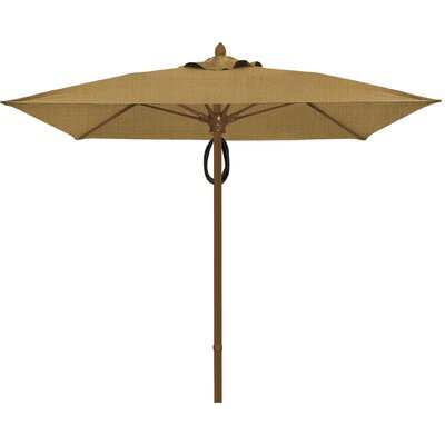 6 Prestige Canopy Square Market Umbrella Frame Finish: White, Fabric: Silica Barley