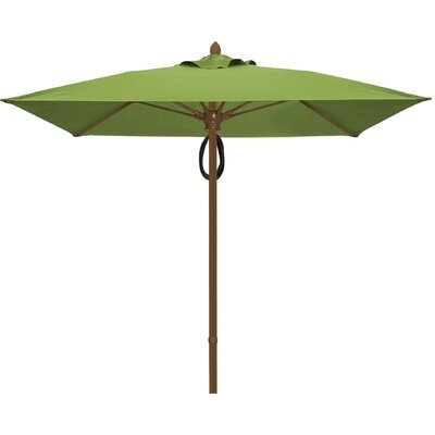 7.5 Prestige Canopy Square Market Umbrella Frame Finish: Champagne Bronze, Fabric: Palm