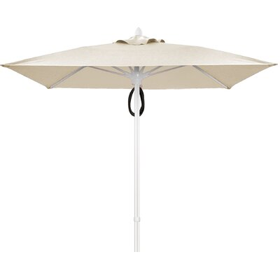 7.5 Prestige Canopy Square Market Umbrella Frame Finish: Champagne Bronze, Fabric: Natural
