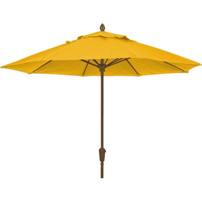 9 Prestige Canopy Octagonal Market Umbrella Fabric: Sunflower Yellow, Frame Finish: Champagne Bronze