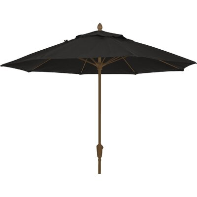 7.5 Prestige Canopy Octagonal Market Umbrella Fabric: Black, Frame Finish: Champagne Bronze