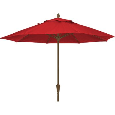 7.5 Prestige Canopy Octagonal Market Umbrella Frame Finish: White, Fabric: Jockey Red