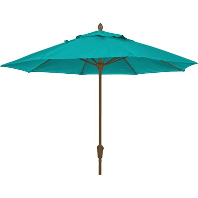 9 Prestige Canopy Octagonal Market Umbrella Frame Finish: White, Fabric: Aruba