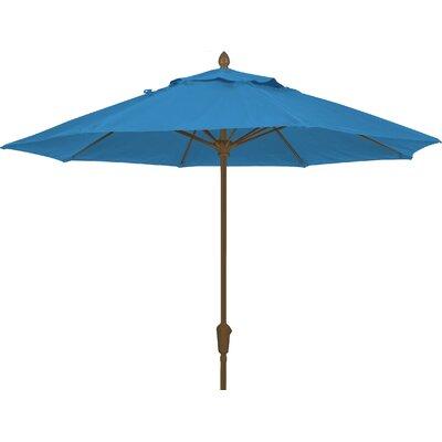 9 Prestige Canopy Octagonal Market Umbrella Frame Finish: White, Fabric: Sky Blue
