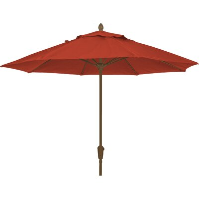 7.5 Prestige Canopy Octagonal Market Umbrella Frame Finish: White, Fabric: Terracotta