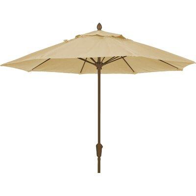 7.5 Prestige Canopy Octagonal Market Umbrella Frame Finish: Champagne Bronze, Fabric: Linen