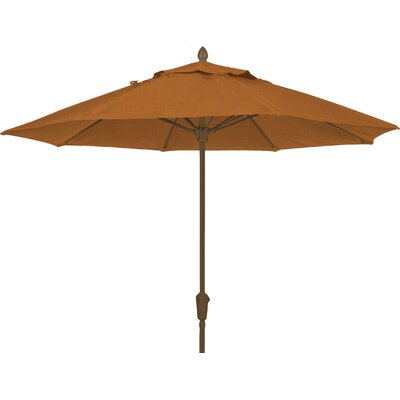 9 Prestige Canopy Octagonal Market Umbrella Frame Finish: Champagne Bronze, Fabric: Tan