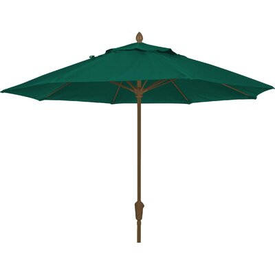 9 Prestige Canopy Octagonal Market Umbrella Fabric: Forest Green, Frame Finish: Champagne Bronze