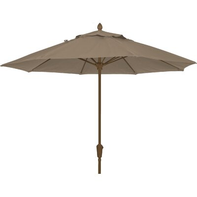 7.5 Prestige Canopy Octagonal Market Umbrella Frame Finish: White, Fabric: Taupe