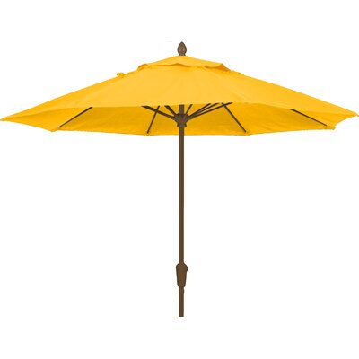 9 Prestige Canopy Octagonal Market Umbrella Frame Finish: White, Fabric: Buttercup