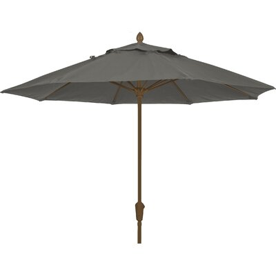 9 Prestige Canopy Octagonal Market Umbrella Frame Finish: White, Fabric: Charcoal Grey
