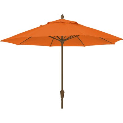 7.5 Prestige Canopy Octagonal Market Umbrella Frame Finish: White, Fabric: Tuscan
