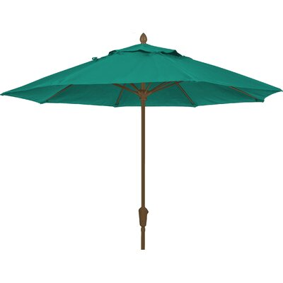 9 Prestige Canopy Octagonal Market Umbrella Frame Finish: White, Fabric: Teal