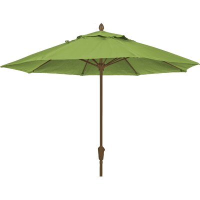 9 Prestige Canopy Octagonal Market Umbrella Frame Finish: White, Fabric: Palm