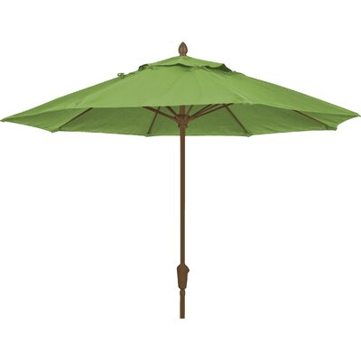 9 Prestige Canopy Octagonal Market Umbrella Fabric: Macaw, Frame Finish: White
