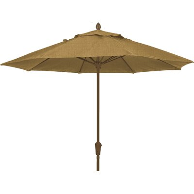 7.5 Prestige Canopy Octagonal Market Umbrella Frame Finish: Champagne Bronze, Fabric: Silica Barley