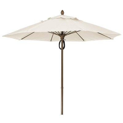 9 Prestige Canopy Octagonal Market Umbrella Frame Finish: Champagne Bronze, Fabric: Natural