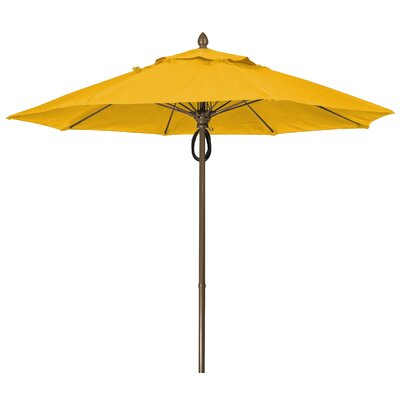 9 Prestige Canopy Octagonal Market Umbrella Frame Finish: White, Fabric: Sunflower Yellow