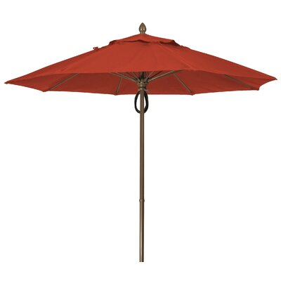 9 Prestige Canopy Octagonal Market Umbrella Frame Finish: White, Fabric: Terracotta