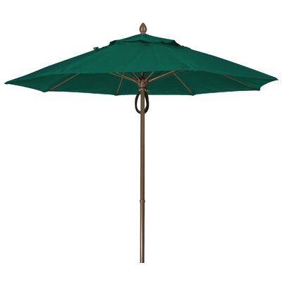 9' Prestige Canopy Octagonal Market Umbrella Frame Finish: White, Fabric: Forest Green