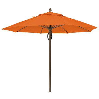 9 Prestige Canopy Octagonal Market Umbrella Frame Finish: White, Fabric: Tuscan