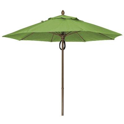 9 Prestige Canopy Octagonal Market Umbrella Frame Finish: White, Fabric: Macaw