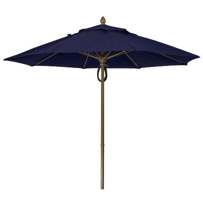 9 Prestige Canopy Octagonal Market Umbrella Frame Finish: Champagne Bronze, Fabric: Captain Navy