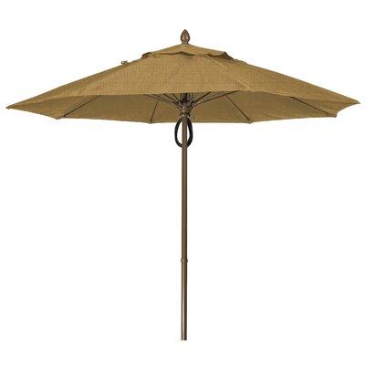 9 Prestige Canopy Octagonal Market Umbrella Fabric: Silica Barley, Frame Finish: White
