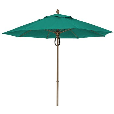 9 Prestige Canopy Octagonal Market Umbrella Frame Finish: Champagne Bronze, Fabric: Teal