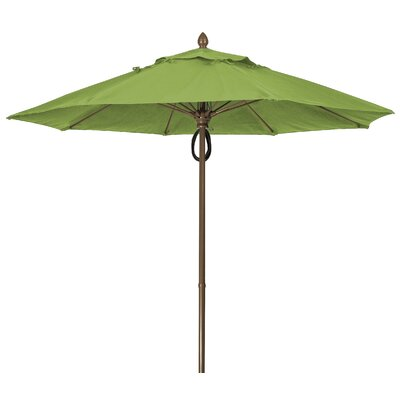 9 Prestige Canopy Octagonal Market Umbrella Frame Finish: Champagne Bronze, Fabric: Palm
