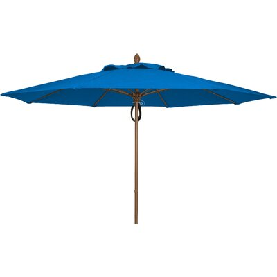 11 Prestige Canopy Octagonal Market Umbrella Frame Finish: Champagne Bronze, Fabric: Pacific Blue