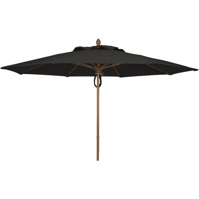 11 Prestige Canopy Octagonal Market Umbrella Frame Finish: White, Fabric: Black