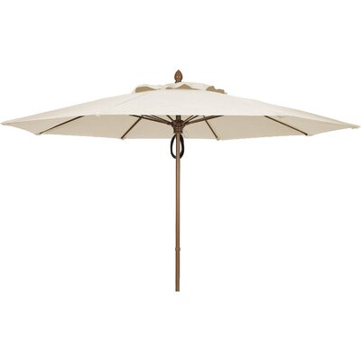 11 Prestige Canopy Octagonal Market Umbrella Frame Finish: White, Fabric: Natural