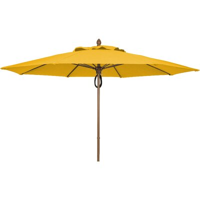 11' Prestige Canopy Octagonal Market Umbrella Frame Finish: White, Fabric: Sunflower Yellow