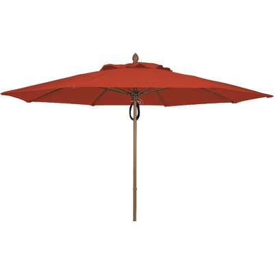 11 Prestige Canopy Octagonal Market Umbrella Frame Finish: White, Fabric: Terracotta