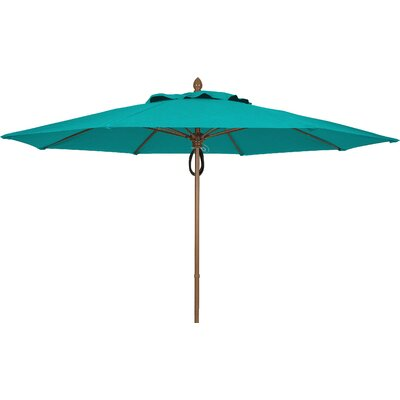 11 Prestige Canopy Octagonal Market Umbrella Frame Finish: White, Fabric: Aruba
