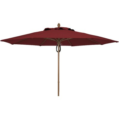 11 Prestige Canopy Octagonal Market Umbrella Frame Finish: White, Fabric: Burgundy