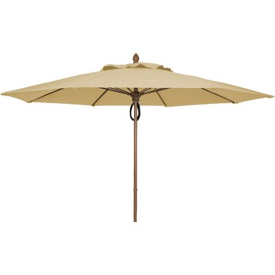 11 Prestige Canopy Octagonal Market Umbrella Fabric: Linen, Frame Finish: White